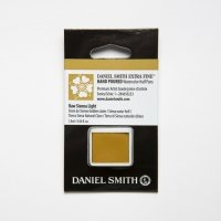 Aquarellfarben Daniel Smith Extra Fine Art Watercolors Halbe Näpfe Raw Sienna Light ½ Napf